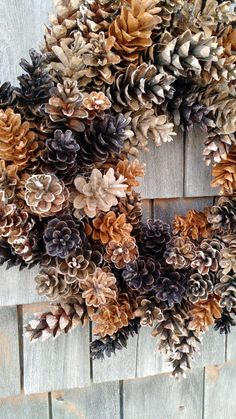Rustic maine pinecone wreath coffee and caramel etsy 10 creative diy pinecone craft projects creativediy pinecone craft projects pineconecrafts Pine Cone Art, Pine Cone Crafts, Pine Cones, Pine Cone Wreath, Wreath Fall, Pine Cone Decorations, Christmas Decorations, Thanksgiving Decorations, Rustic Christmas