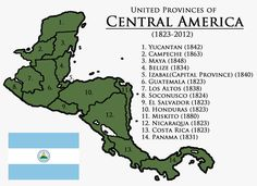 My orgional was much lower res. -The Guatemalan and Belize border was not so well defined -There were settlements on the Mesk. United Provinces of Central America Revamped Honduras, America Memes, Alternate History, Fantasy Map, Fantasy Setting, Central America, The Unit, Flags, Cities