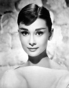 Audrey Hepburn classic beauty . modern brows