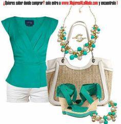 Blusa cruzada verde esmeralda