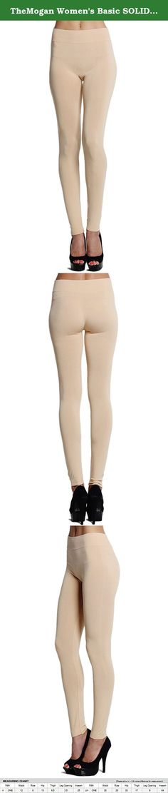 "TheMogan Women's Basic SOLID Stretch FULL LENGTH LEGGINGS-Khaki-ONE SIZE. Basic Plain SOLID Stretch ANKLE LEGGINGS Skinny Pant Footless Tights S M L. Nylon/Spandex Stretch,Seamless Leggings, Ideal for Layering outfits this season. Featuring a soft body and rib waist with a curve Body hugging fit, Stretch for comfort Waist stretches up to 36"" Machine or hand wash cold, hang dry Sizes : One Size Fits Most (Small, Medium, Large) Fabric : 95% NYLON, 5% SPANDEX (May different fabric by colors)..."