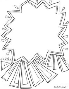 use these free printable doodle art pages to create a fun coloring page for your sponsored