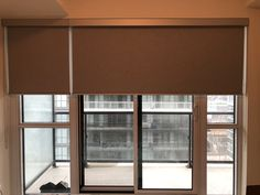Picture of custom window blinds and shades in Toronto and GTA Backyard House, Shades Blinds, Window Roller Shades, Windows, Custom Window Blinds, Blackout Roller Blinds, Blackout Blinds, Custom Windows, Blinds For Windows