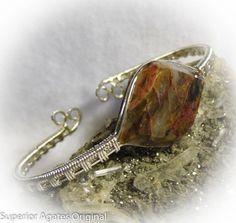 Rare Minnesota Binghamite Wire Wrapped Stone by superioragates, $65.00