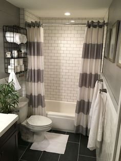 47 Guest Bathroom Makeover Ideas On A Budget. Guest Bathroom Makeover Ideas On A Budget There are many reasons for remodeling bathrooms. Whether the room is inadequate in some way, in need of updating or […] Cortina Box, Bad Inspiration, Bathroom Renos, Bathroom Vanities, Bathroom Storage, Gold Bathroom, Bathroom Cabinets, Grey Bathroom Decor, Bathroom Shower Curtains