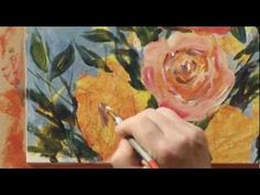 Playing now on http://ArtistsNetwork.tv, in How to Paint Flowers in Acrylic, follow along as Tim Fisher completes three different flower painting tutorials (white magnolias, red poppies and wild roses), giving acrylic painting tips such as flicking your brush to give a more painterly, impressionistic style, and painting with palette knives.