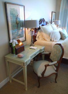 writing table as nightstand