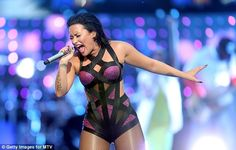 Sing it! The Heart Attack singer clearly put in her all for her performance...