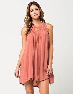 PATRONS OF PEACE Dainty Lace Dress Pink