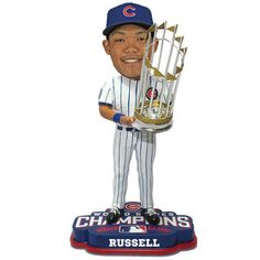 Chicago Cubs Addison Russell 2016 World Series Champions Player Bobblehead