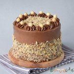 Tort Ferrero Rocher cu alune, bezea si Nutella