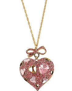 ICONIC PINKALIOUS HEART LONG PENDANT FUSCHIA accessories jewelry necklaces fashion