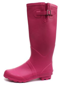 County Classic Fuschia Wellies Womens Long Wellington Boots