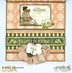 Portrait of a Lady Easel Card, Portrait of a Lady, by Kathy Clement, Product by Graphic 45, Photo 6