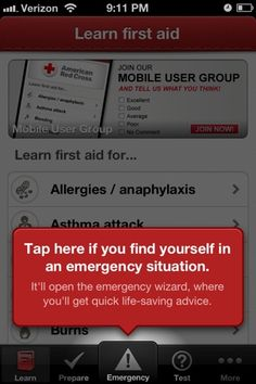 ...For Tomorrow We...: First Aid: There's an App for That Emergency Medical help from the Red Cross on your smartphone.