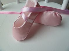 Baby Girl Shoes - Infant Ballet Slippers in Pink Satin -  Handmade Ballet Shoes for Infant Girl - Ballet Flats - Baby Ballerina on Etsy, $22.00