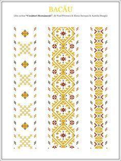 Semne Cusute: iie din MOLDOVA, Bacau Celtic Cross Stitch, Cross Stitch Borders, Cross Stitch Charts, Cross Stitching, Cross Stitch Patterns, Folk Embroidery, Cross Stitch Embroidery, Embroidery Patterns, Blackwork