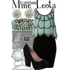 Mme. Leota, created by lalakay on Polyvore #disney