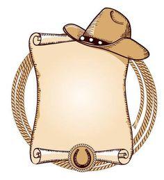 Cowboy hat and lasso American vector Cowboy Party, Cowboy Birthday Party, Cowboy And Cowgirl, Pirate Party, Barn Parties, Western Parties, Western Theme, Western Decor, Anniversaire Cow-boy
