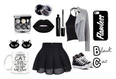 """Black cat"" by dj2000noname ❤ liked on Polyvore featuring Erstwilder, Mint Velvet, Converse, Lime Crime, Marc Jacobs and Terre Mère"