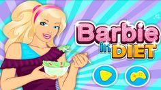 Em Barbie de Dieta, Barbie é uma garota bonita e estilosa; e está sempre cuidando de sua saúde. Ela comeu muitas guloseimas e engordou muito; por isso, Barbie resolveu fazer uma dieta para ficar com o seu corpo normal. Ela vai precisa de sua ajuda para preparar saladas para ela. Ajude a Barbie criar deliciosas saladas com alimentos naturais e saudáveis. Divirta-se jogando com a Barbie!