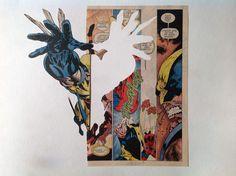 Mathias Schmied's Unique Art Made From Comic Books  http://beautifuldecay.com/2014/02/27/mathias-schmieds-unique-art-made-comic-books/