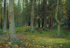 Conifer Forest - oil, canvas, Yuri Vasendin
