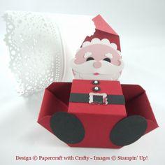 Envelope Punch Board Santa. http://www.papercraftwithcrafty.co.uk/2015/08/ho-ho-ho.html
