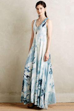 Dream Lake Silk Maxi Dress #anthrofave