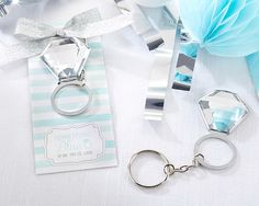 Kate Aspen  Something Blue Ring Key Ring