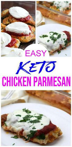 Keto Chicken Parmesan! BEST Low Carb Chicken Recipe - Baked - No Breading - Gluten Free EASY Keto Friendly Idea! Need an easy keto dinner & want a delicious keto chicken recipe? Look no further than this quick keto chicken Parmesan recipe. If you are looking for low carb breading for chicken than try this low carb Parmesan crusted chicken. Serve this as a keto meal on it's own or keto chicken Parmesan with zoodles or keto pasta noodles :) #lowcarb #keto