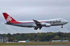 Cargolux B747-8F lands in Luxembourg