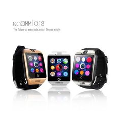 TechComm Bluetooth and GSM Unlocked Smartwatch with Camera, Fitness Tracker, Anti-Lost Alarm, Sleep Monitor, Pedometer and Sedentary Reminder - Black Fitness Motivation Pictures, Weight Loss Motivation, Funny Workout Pictures, Exercise And Mental Health, Camera Watch, Fitness Watch, Workout Humor, Fitness Tracker, Smartwatch