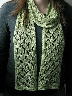 Love this scarf pattern