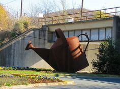Giant Watering Can Staunton,Virginia Be great to fill up once during the Summer...LOL...
