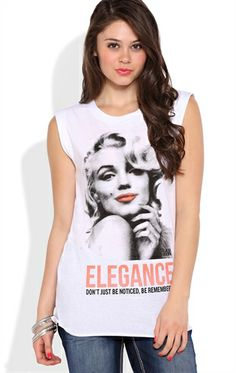 Marilyn Monroe Elegance Tunic Tank Top