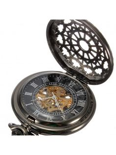 Steampunk Web Skeleton Mechanical Pocket Watch