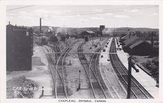 RP; CP Railroad Yards & Train Station, CHAPLEAU , Ontario, Canada, 1920-40s