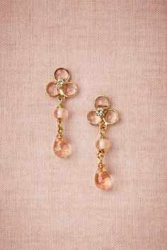 Sheer Droplets Earrings from BHLDN