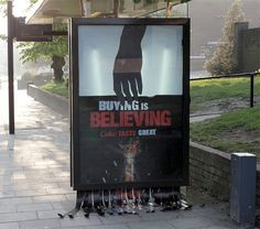 Subvertisement by eyesaw. More photos can be found over at rebel:art.