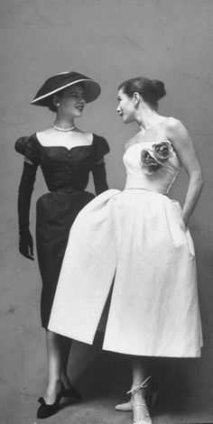 """""""The New Look"""", designed by Christian Dior Very elegant, with nice cut in the collar. Tight waist and puffed with cut in front and pleat"""