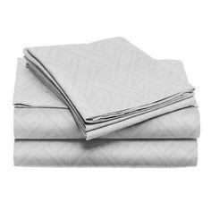 Home Dynamix Willow Deco 4-Piece Bedding Sheet Set, King, Green