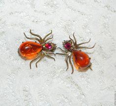 Купить Броши Паучки,брошь,паук,паучок,насекомые,насекомое,жучок,жук,брошка
