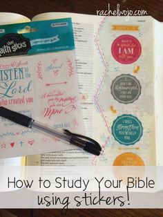 """I fell in love with Bible journaling and Bible art journaling last year. Using """"add-on's"""" of different kinds has opened another creative Bible study outlet. Whether coloring with pencils or using stamps or adding stickers, I enjoy using art of all forms to help me remember and reflect on God's Word. So why study your Bible with stickers? Glad you asked! Here are 4 things I discovered when studying my Bible using stickers."""