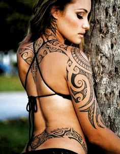 Big list of Arm Tattoo Designs for Women which will influence you for sure. These arm tattoo designs will attract attention where ever you are. Tribal Tattoo Designs, Aztec Tribal Tattoos, Filipino Tribal Tattoos, Tribal Tattoos For Women, Tribal Shoulder Tattoos, Hawaiian Tribal Tattoos, Tribal Sleeve Tattoos, Back Tattoo Women, Tattoo Girls