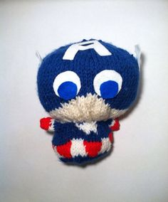 Captain America Knit Plush by TheChicGeekOutlet on Etsy The Chic, Captain America, Sculpting, Plush, Geek Stuff, Crochet Hats, Beanie, Etsy Shop, Trending Outfits