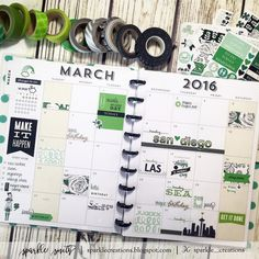 Sparkle Creations: Planner Stamping: March 2016 Monthly Layout