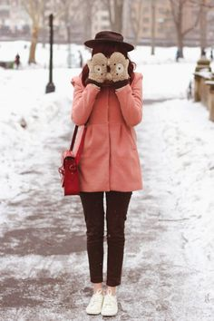 Snowy Central Park. ♥ / Steffys Pros and Cons | NYC Vintage Fashion Blog