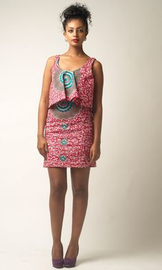 It's African Inspired. Credits to Solome Katongole See More Styles http://www.dezangozone.com/