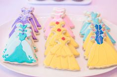 Lovely cookies at a Disney princess birthday party! See more party ideas at CatchMyParty.com!